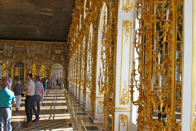 One room at the Winter Palace - Yep, that's all gold!